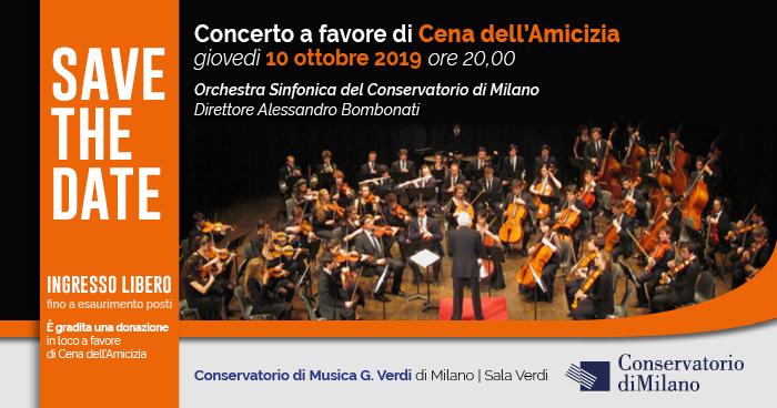 Concerto a favore di Cena dell'Amicizia al Conservatorio di Milano