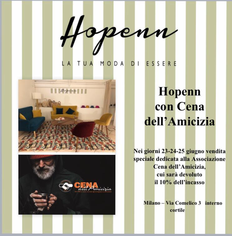 Hopenn Milano e Cena dell'Amicizia